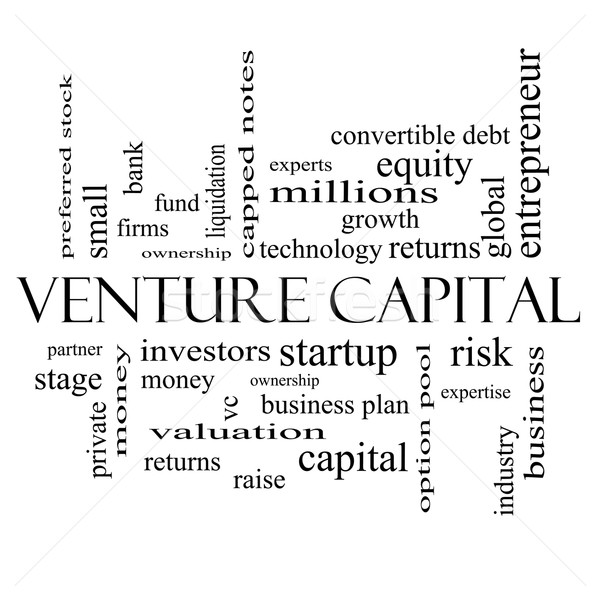 Venture Capital Word Cloud Concept in black and white Stock photo © mybaitshop
