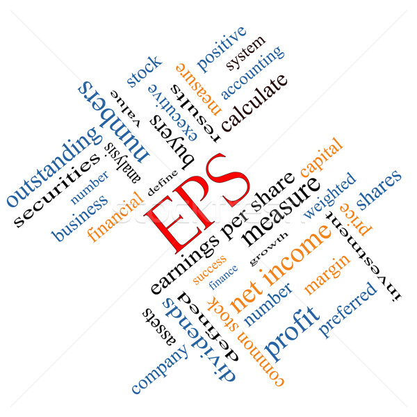 EPS Word Cloud Concept Angled Stock photo © mybaitshop