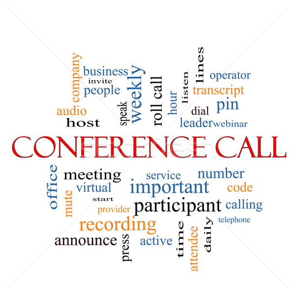 Conference Call Word Cloud Concept Stock photo © mybaitshop