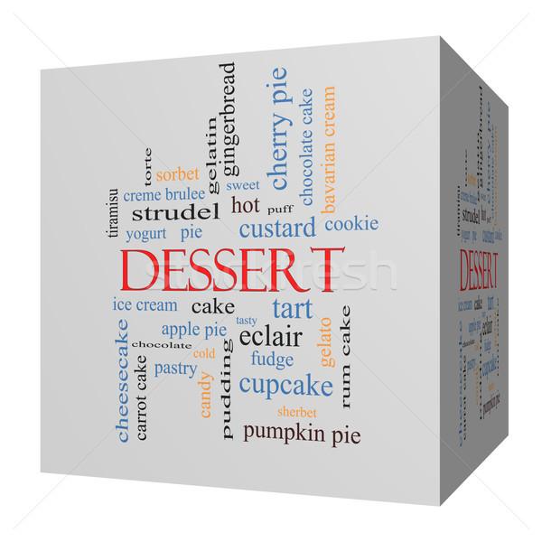 Dessert 3D cube Word Cloud Concept Stock photo © mybaitshop
