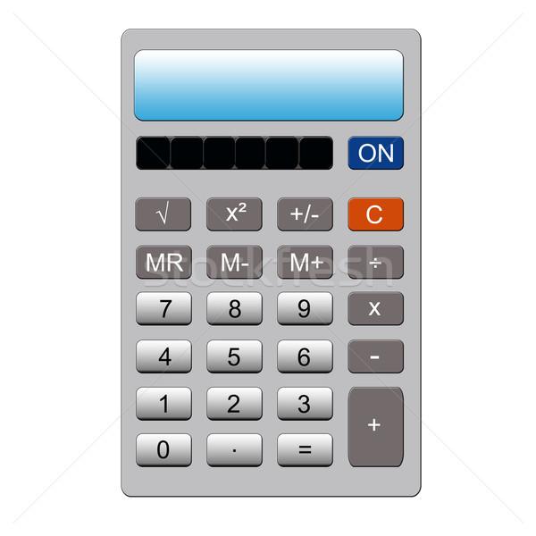 Zilver calculator imitatie normaal sleutel geheugen Stockfoto © mybaitshop