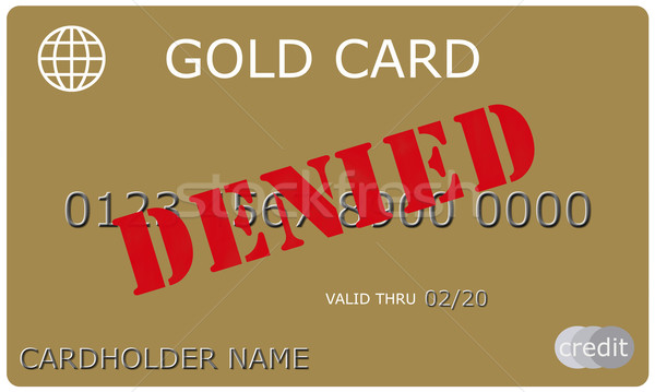 Denied Gold Credit Card Stock photo © mybaitshop
