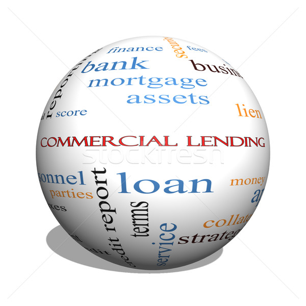 Commercial Lending 3D sphere Word Cloud Concept Stock photo © mybaitshop