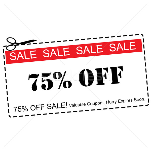 Seventy Five Percent Off Sale Coupon Stock photo © mybaitshop