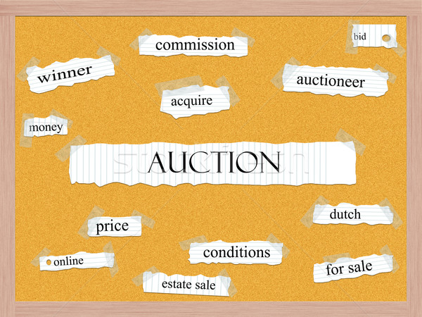 Auction Corkboard Word Concept Stock photo © mybaitshop