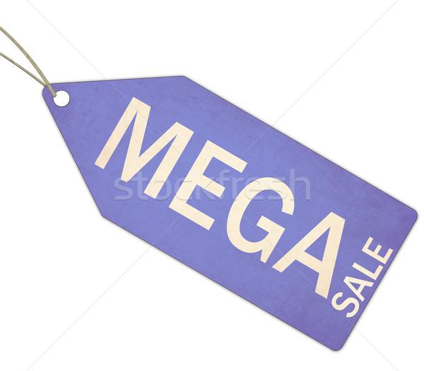 как продажи синий тег строку белый Сток-фото © mybaitshop