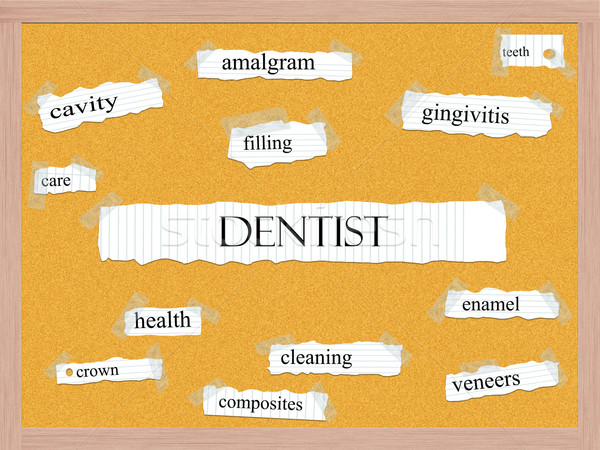 Dentist Corkboard Word Concept Stock photo © mybaitshop