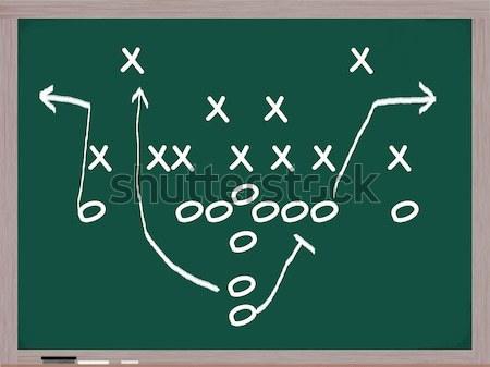 Lábujj iskolatábla játék írott kréta jókedv Stock fotó © mybaitshop