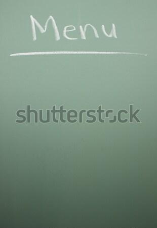 Dagelijks groene schoolbord geschreven hout Stockfoto © mybaitshop