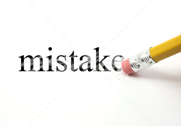 Erasing your Mistake Stock photo © mybaitshop