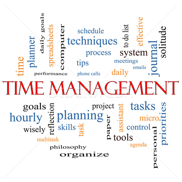 Time Management Word Cloud Concept Stock photo © mybaitshop