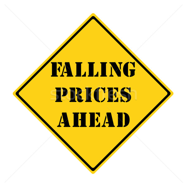 Falling Prices Ahead Sign Stock photo © mybaitshop