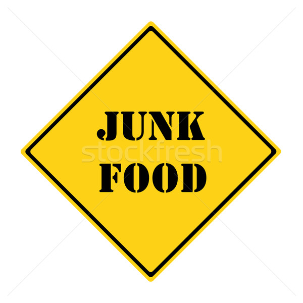 Junk Food Sign Stock photo © mybaitshop