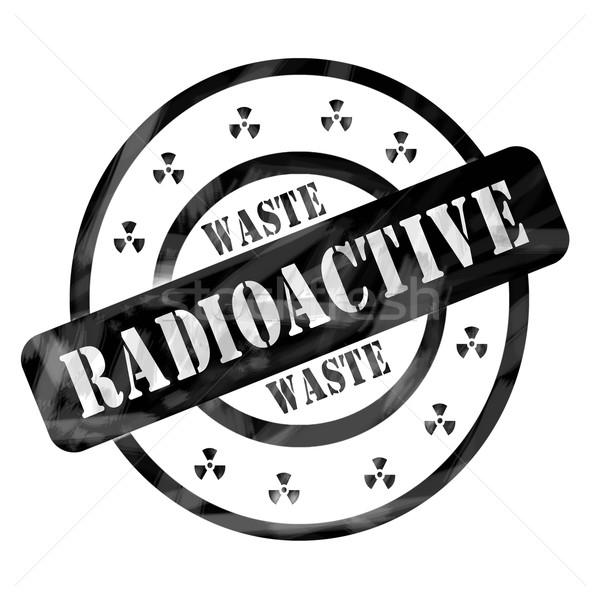 Black Weathered Radioactive Waste Stamp Circles and Symbols Stock photo © mybaitshop
