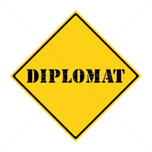 Diplomat Sign Stock photo © mybaitshop
