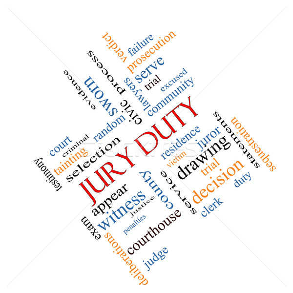 Jury Duty Word Cloud Concept Angled Stock photo © mybaitshop