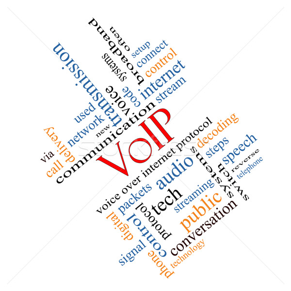 Voip word cloud voce internet protocollo Foto d'archivio © mybaitshop