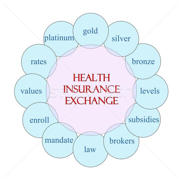 Health Insurance ExchangeCircular Word Concept Stock photo © mybaitshop