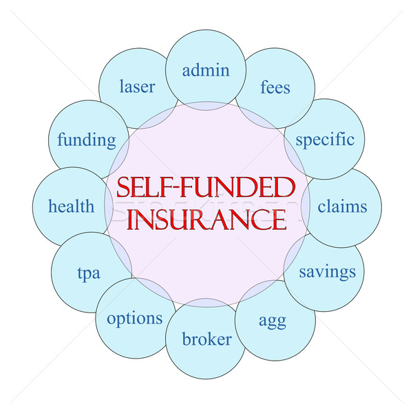 Self Funded Insurance Circle concept Stock photo © mybaitshop