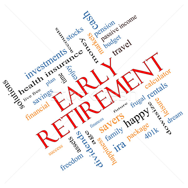 Early Retirement Word Cloud Concept Angled Stock photo © mybaitshop
