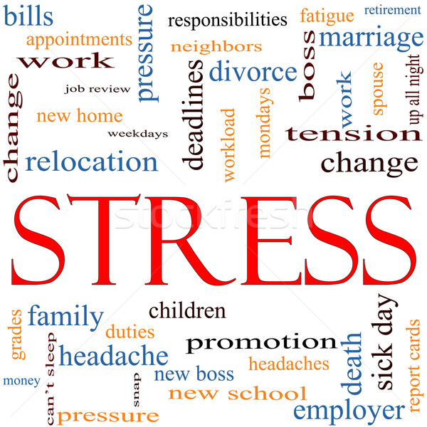 Stress Word Cloud Concept Stock photo © mybaitshop