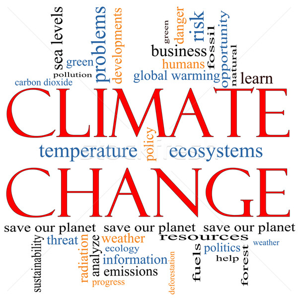 Climate Change Word Cloud concept Stock photo © mybaitshop