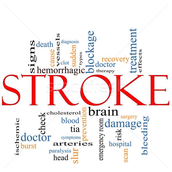 Kelime bulutu doktor beyin işaretleri hastane ölüm Stok fotoğraf © mybaitshop