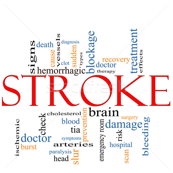Stroke word cloud concept Stock photo © mybaitshop