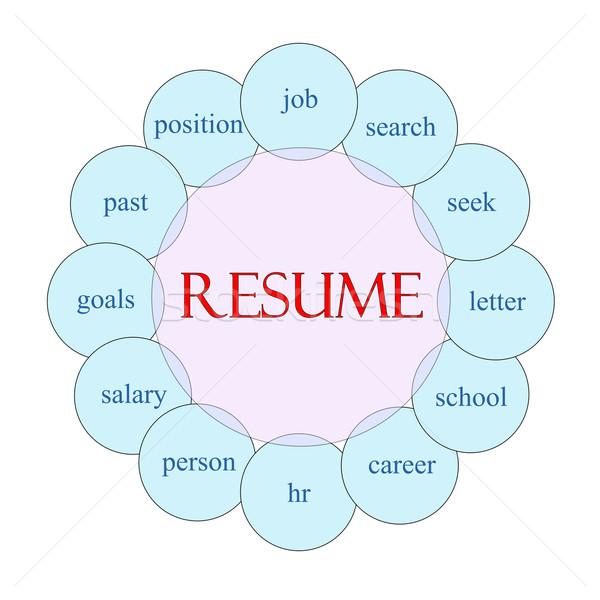 Resume Circular Word Concept Stock photo © mybaitshop