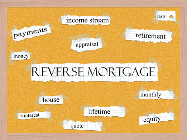 Reverse Mortgage Corkboard Word Concept Stock photo © mybaitshop