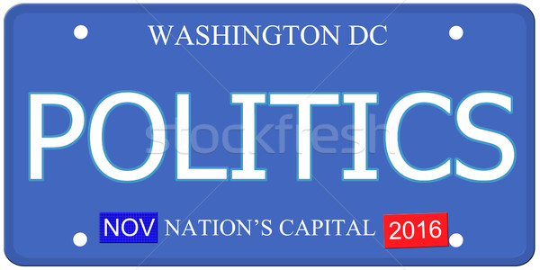 Politics Washington DC License Plate Stock photo © mybaitshop