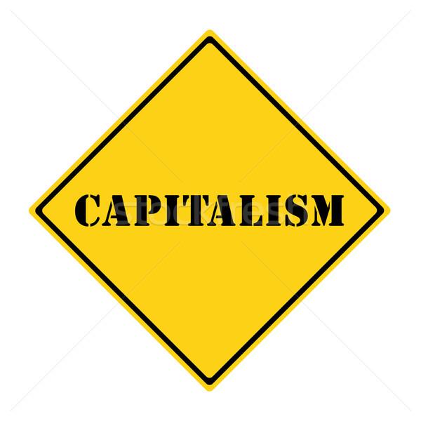 Capitalismo assinar amarelo preto diamante Foto stock © mybaitshop