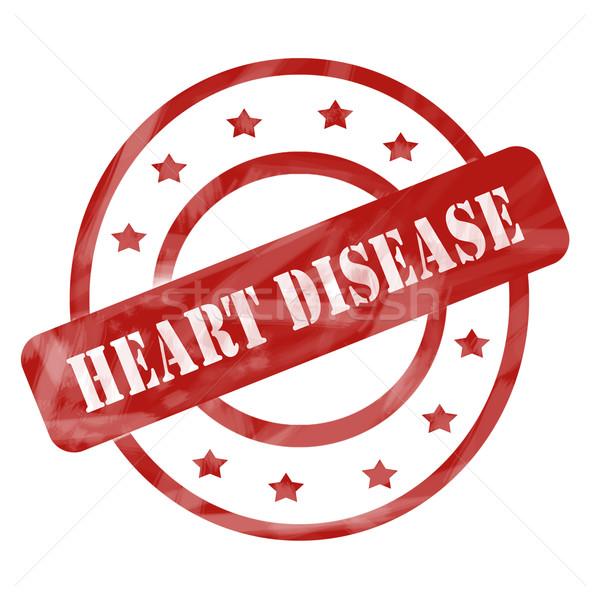 Rosso intemperie malattie cardiache timbro stelle Foto d'archivio © mybaitshop