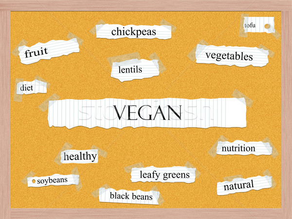 Vegan Corkboard Word Concept Stock photo © mybaitshop