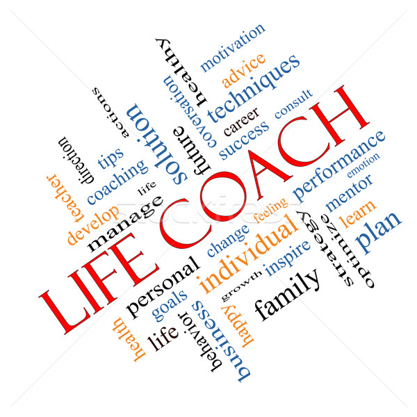 Life Coach Word Cloud Concept Angled Stock photo © mybaitshop