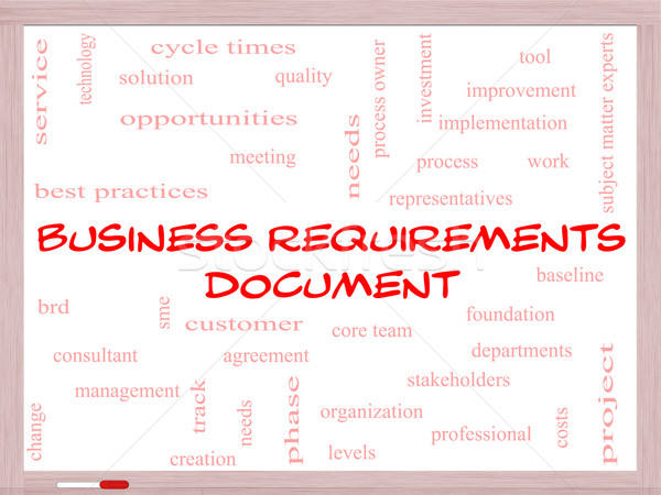 Business documento word cloud soluzione Foto d'archivio © mybaitshop