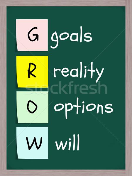 Foto stock: Realidade · opções · acrônimo · meta · colorido