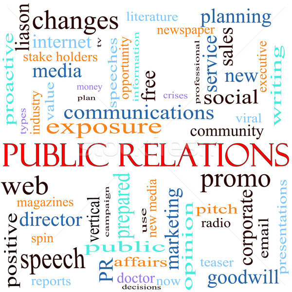 Public Relations Word Cloud Stock photo © mybaitshop