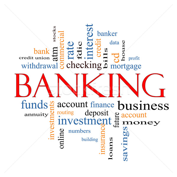 Banking Word Cloud Concept Stock photo © mybaitshop