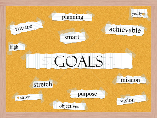 Goals Corkboard Word Concept Stock photo © mybaitshop