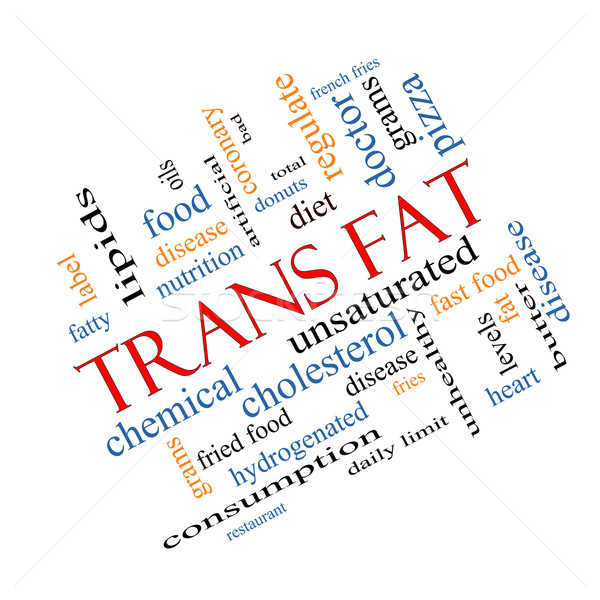 Trans Fat Word Cloud Concept Angled Stock photo © mybaitshop