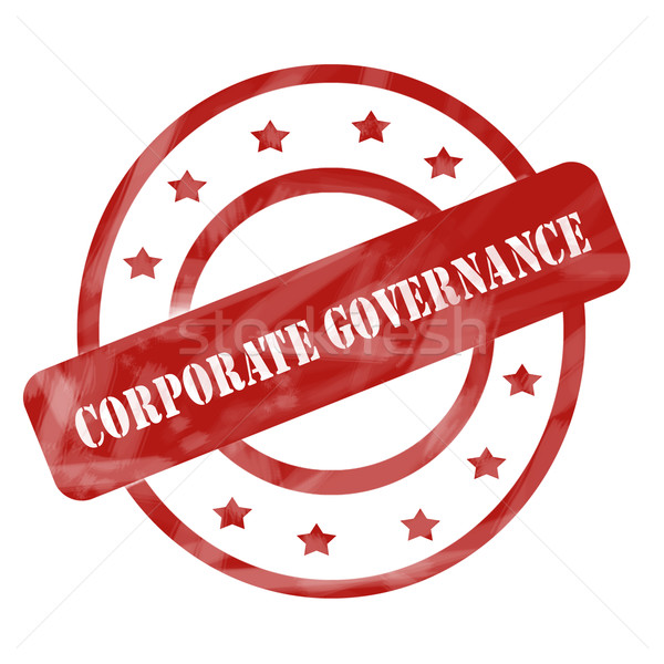 Red Weathered Corporate Governance Stamp Circles and Stars Stock photo © mybaitshop