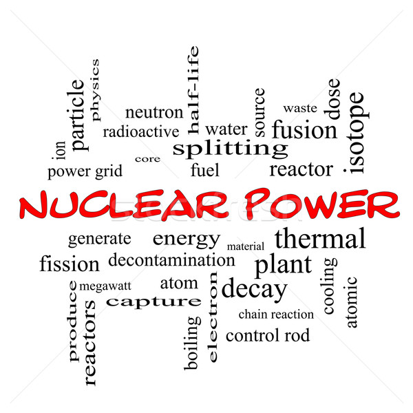 Nuclear Power Word Cloud Concept in red caps Stock photo © mybaitshop