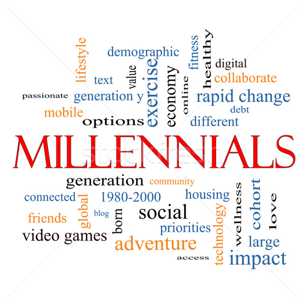 Millennials Word Cloud Concept  Stock photo © mybaitshop