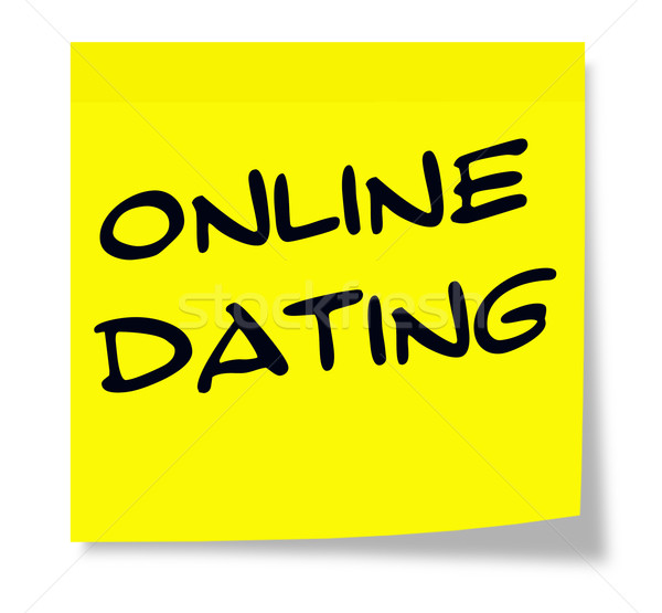 Online randizás írott citromsárga öntapadó jegyzet készít Stock fotó © mybaitshop