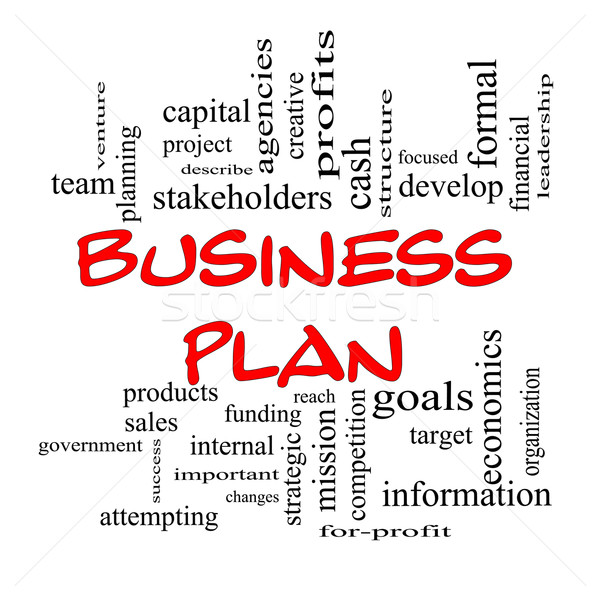 Red Caps Business Plan Word Cloud Concept Stock photo © mybaitshop