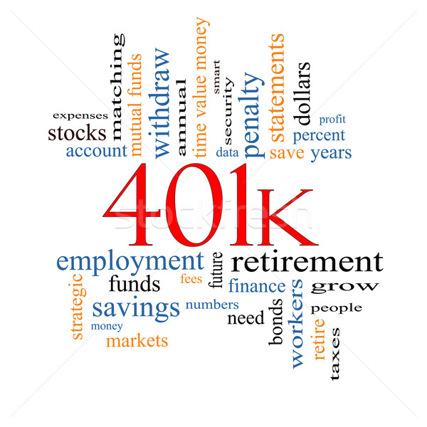 401k Word Cloud Concept Stock photo © mybaitshop