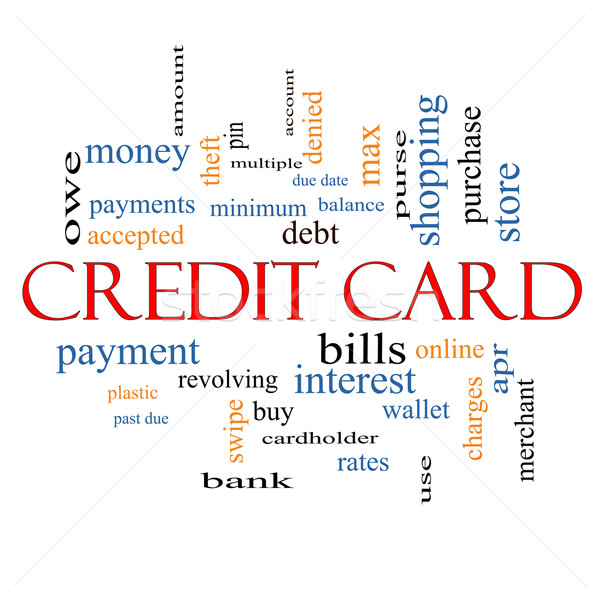 Credit Card Word Cloud Concept Stock photo © mybaitshop