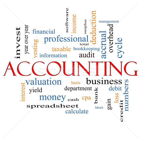Accounting Word Cloud Concept Stock photo © mybaitshop