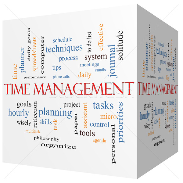 Time Management 3D cube Word Cloud Concept Stock photo © mybaitshop